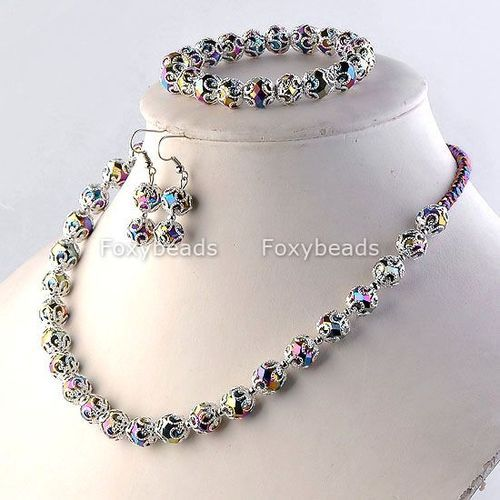 'Rainbow sim Crystal Glass Beaded Set' is going up for auction at 12pm Thu, Apr 25 with a starting bid of $1.