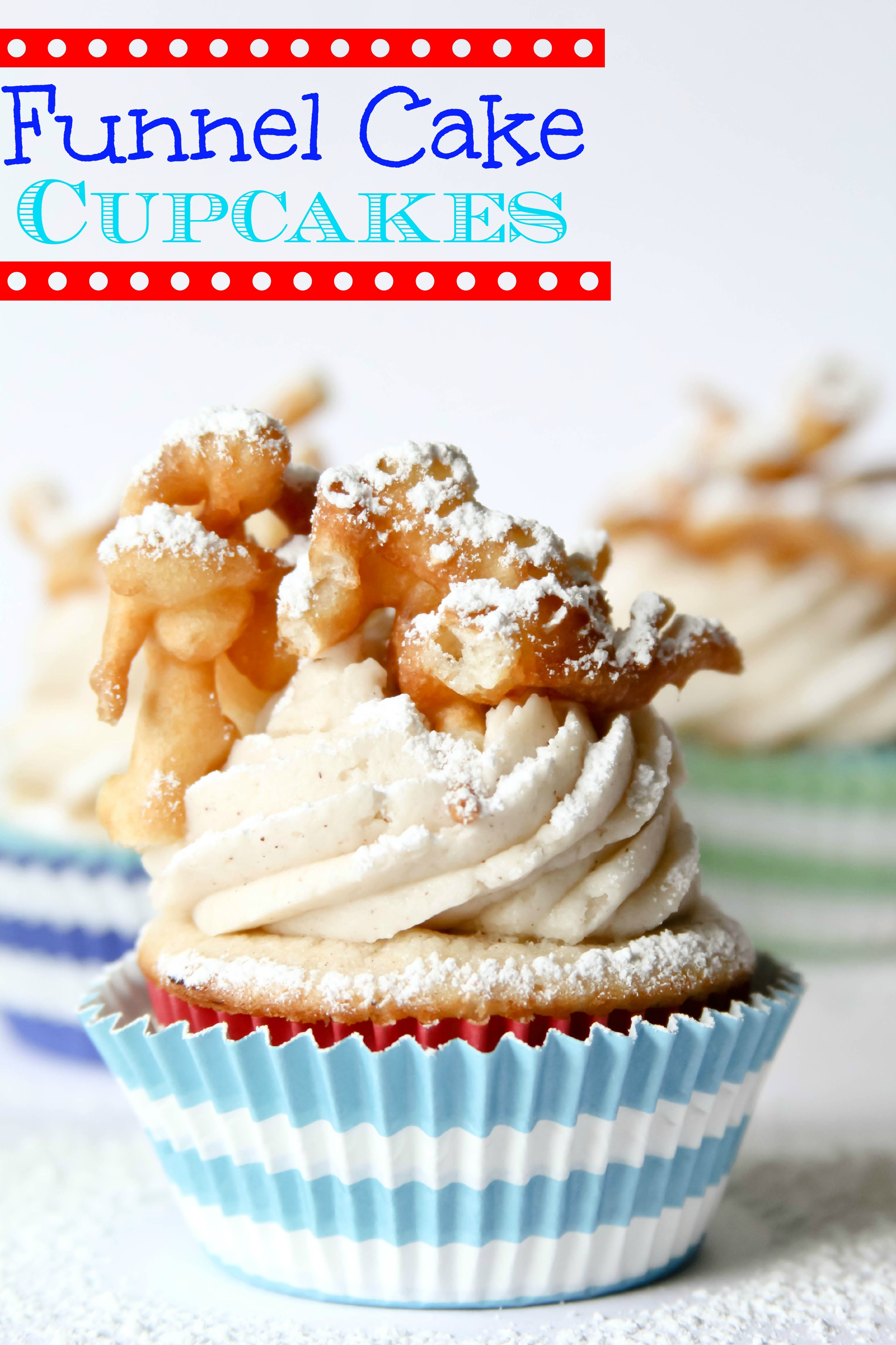 Funnel cake cupcakes confessions of a cookbook queen