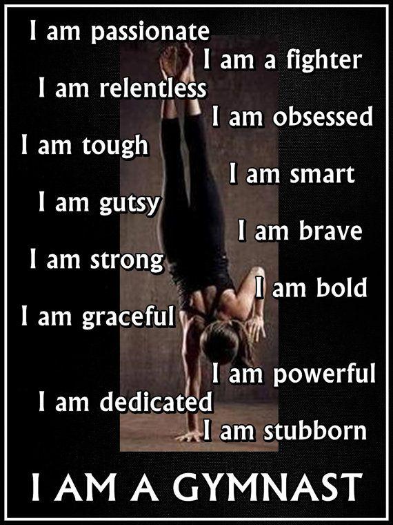 ae675aab Gymnastics I AM A GYMNAST Quote Inspiration by ArleyArtEmporium, $15.99