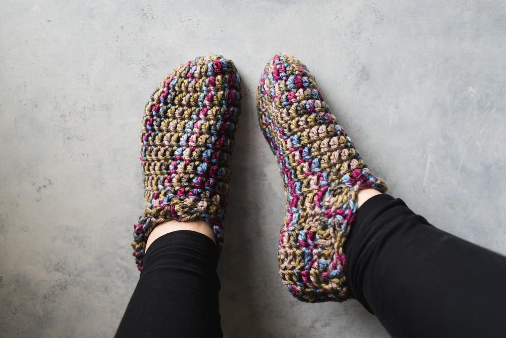 One Hour Crochet Slippers Crochet Video Tutorials