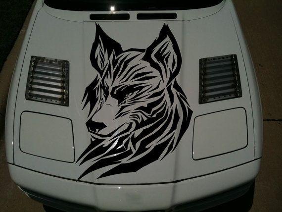 Auto Vinyl Custom Personalized Mural Decal Car Hood Window Bumper Sticker Premium 4 Season All Weather Sport Truck Wolf Tri Vinyl For Cars Vinyl Tribal Animals