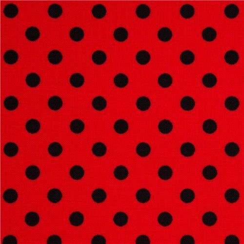 Red Michael Miller Fabric Small Black Polka Dots Michael Miller Fabric Polka Dots Polka Dots Wallpaper