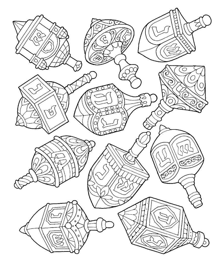 dreidel coloring pages Hanukkah Dreidel Coloring Page | coloring pages | Hanukkah  dreidel coloring pages