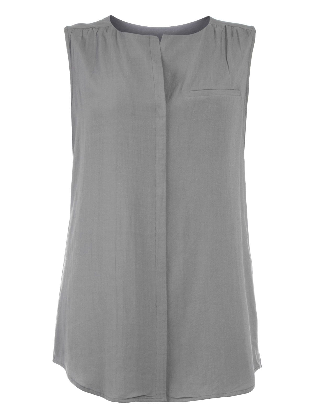 64afa9d41c5 MANON BAPTISTE - Linen-blend sleeveless blouse - navabi