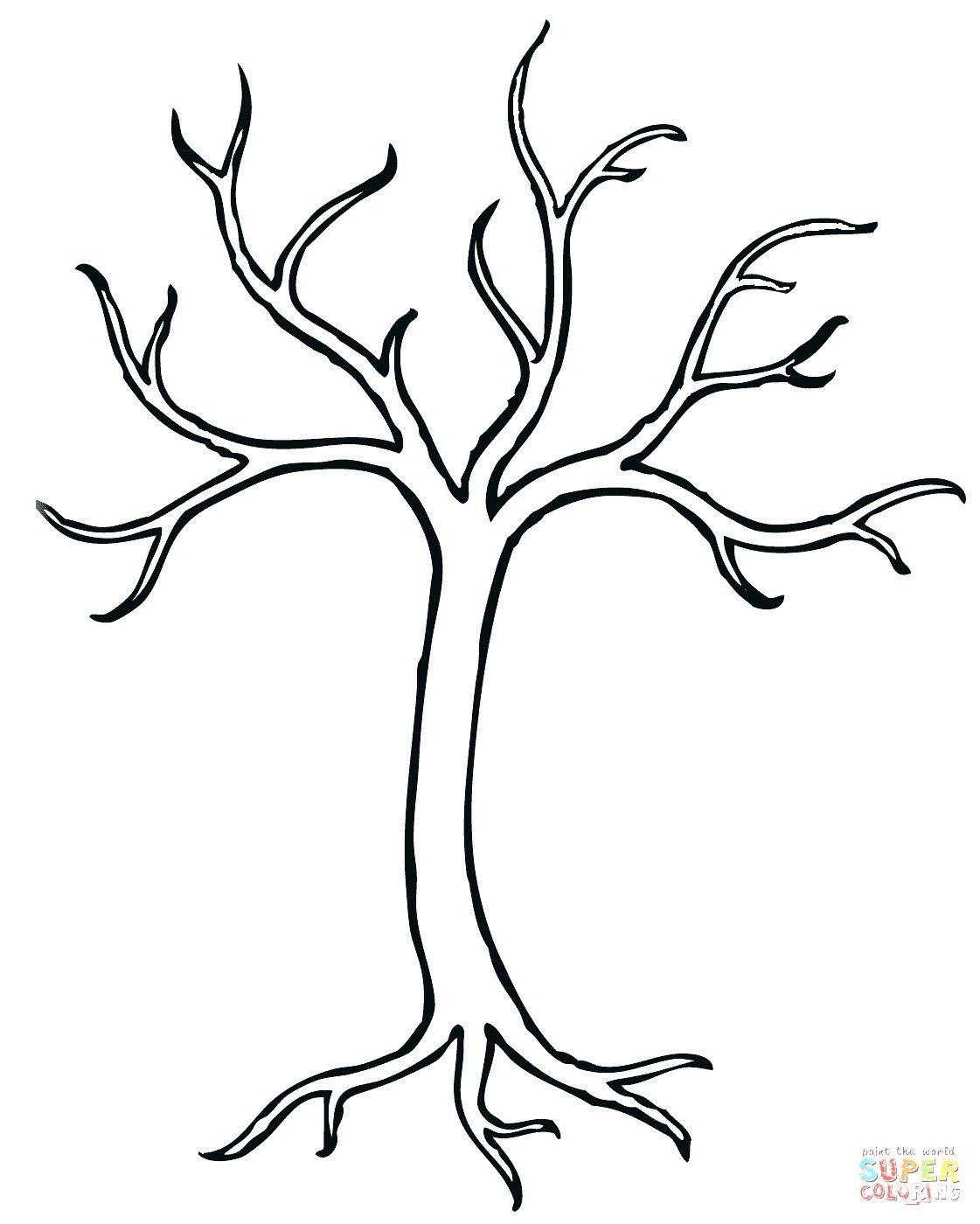 Malvorlage Baum Ohne Blatter Kostenlos in 2020   Baum ...