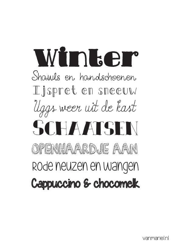 leuke winter spreuken A5 | Betekenis winter | Leuke mooie teksten/afbeeldingen/spreuken  leuke winter spreuken
