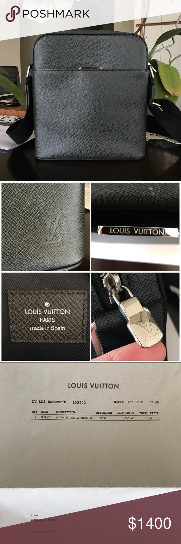 dans quelques jours divers design regarder Louis Vuitton Anton Pochette Ardoise Crossbody Louis Vuitton ...