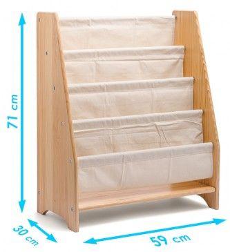 Bücherregal mit Stofffächern | Montessori Lernwelten - Der Shop für Montessori Material