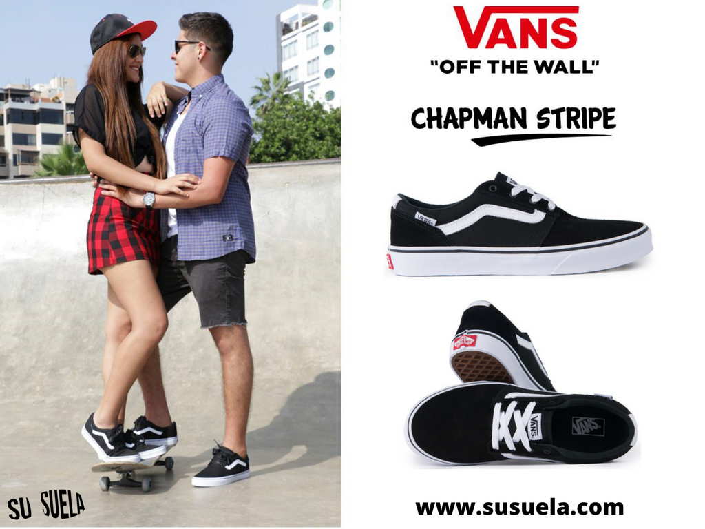 3b7db53e0 Vans CHAPMAN STRIPE JR en Susuela ! VANS OFF THE WALL Corte ...