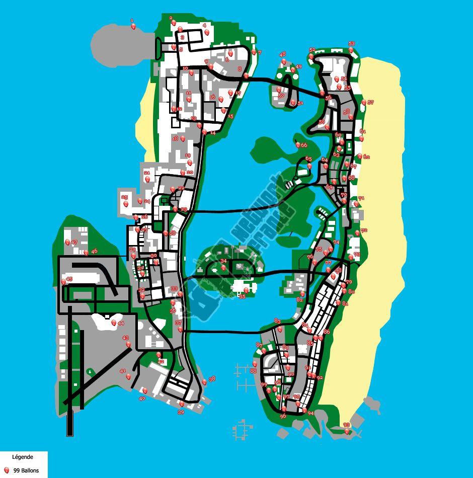 Ballons GTA Vice City Stories | Gta map | Gta, City ...