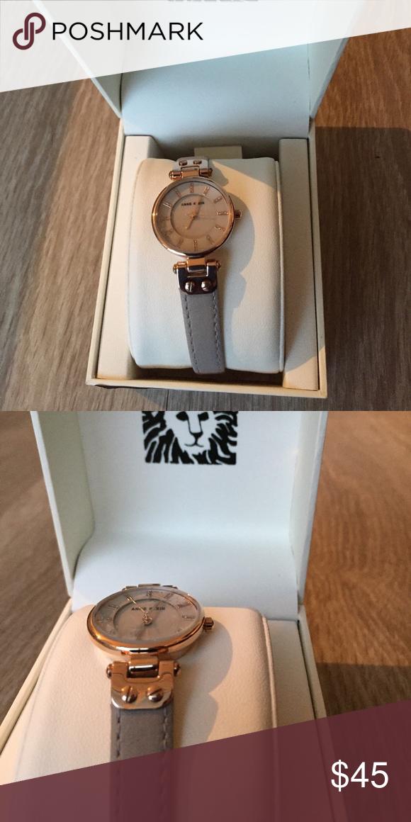 86e3b1c2c93 NWT Anne Klein watch with neutral leather band Brand new never worn Anne  Klein watch with neutral leather band. Perfect everyday watch!!!