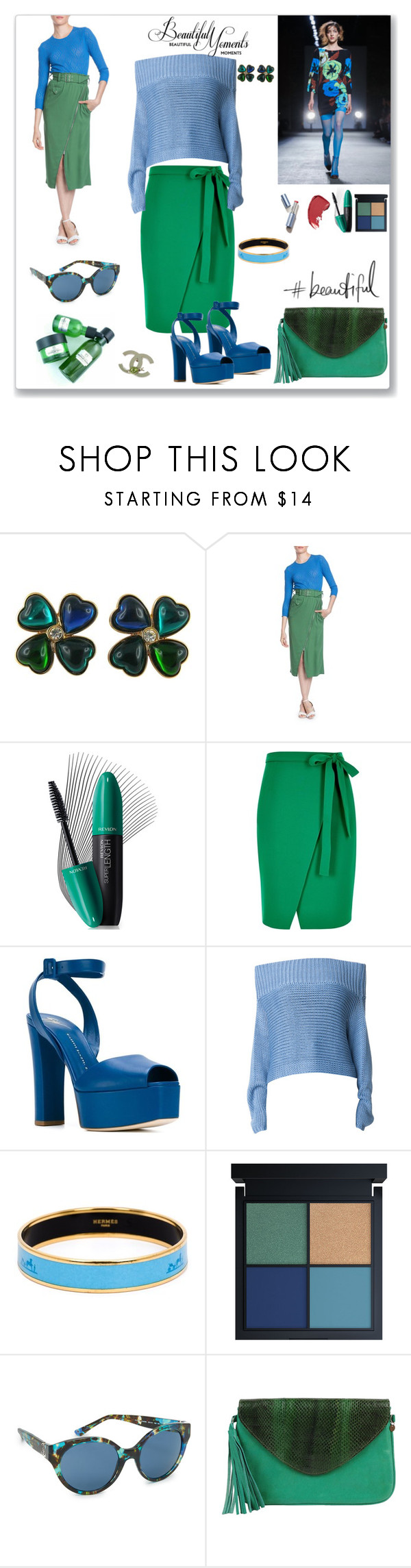 """""""Beautiful style"""" by ludmyla-stoyan ❤ liked on Polyvore featuring Yves Saint Laurent, Tracy Reese, Revlon, River Island, Giuseppe Zanotti, TIBI, Hermès, Tory Burch, Cocobelle and Chanel"""