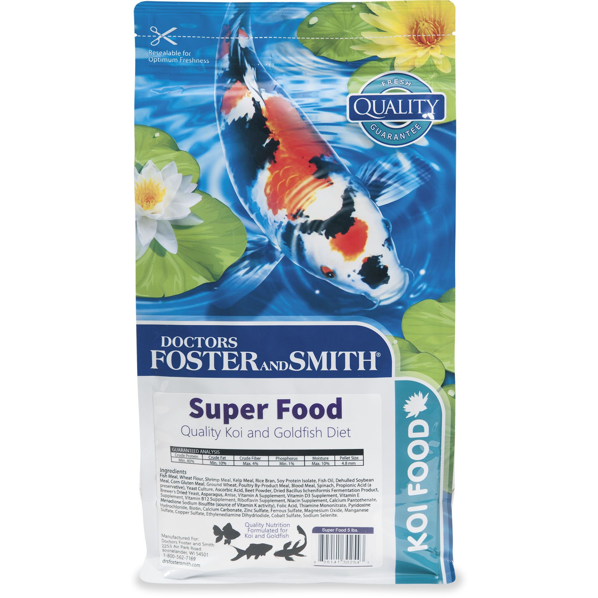 Drs Foster And Smith Super Food Quality Koi And Goldfish Food 5 Lbs Petco In 2020 Goldfish Food Foster And Smith Food Quality