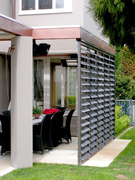 Outdoor Aluminium Louvre Opening Roof Systems By