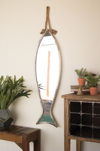 Vertical Fish Mirror Click To Shop One Of A Kind Home Decor To