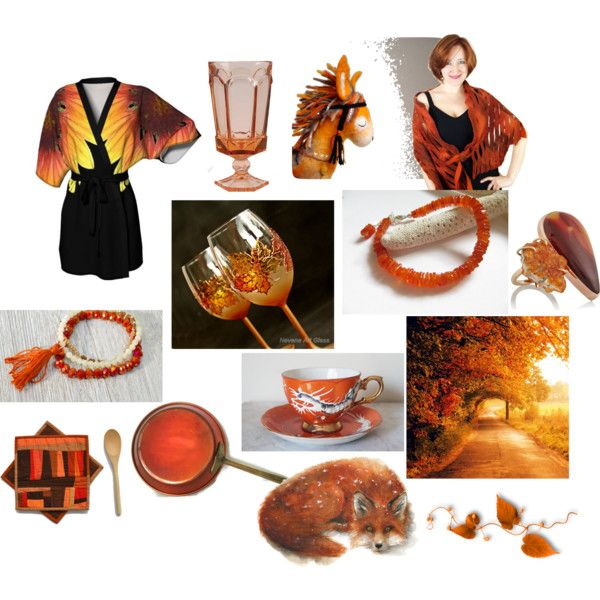 Crystal Copper Autumn by inspiredbyten on Polyvore featuring Melissa Joy Manning, Hostess, etsy, gifts, polyvorefashion and Fall2016