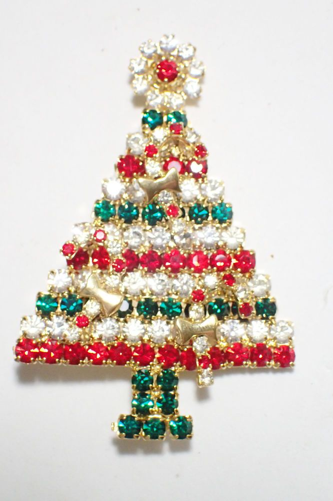 Gale & Friends Candy Cane Ornament Red White and Green Christmas Tree Brooch #GaleFriends