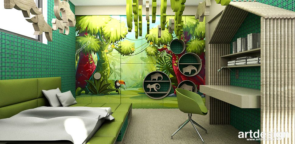 422d706b PASSION FOR THE ARTDESIGN | Pokój z motywem dżungli | POKOJE ...