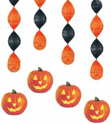 4 x pumpkin glow 18\ - halloween decorations party