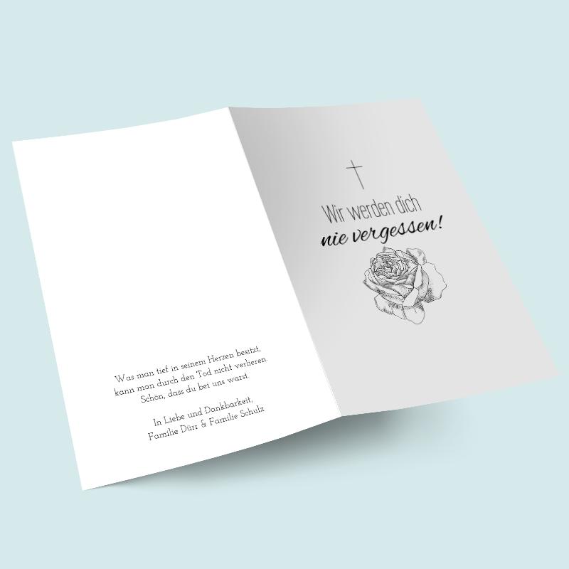 Trauerkarten Stille Gedanken Trauerkarte Trauerfeier Trauer
