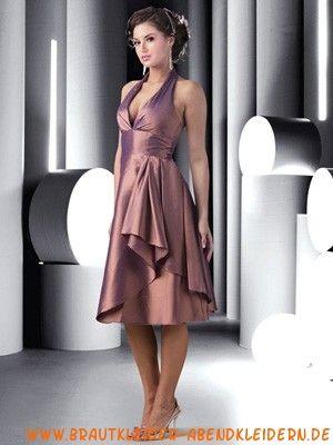 Lila kurze modische Cocktailkleider aus Taft | abendkleider lang ...