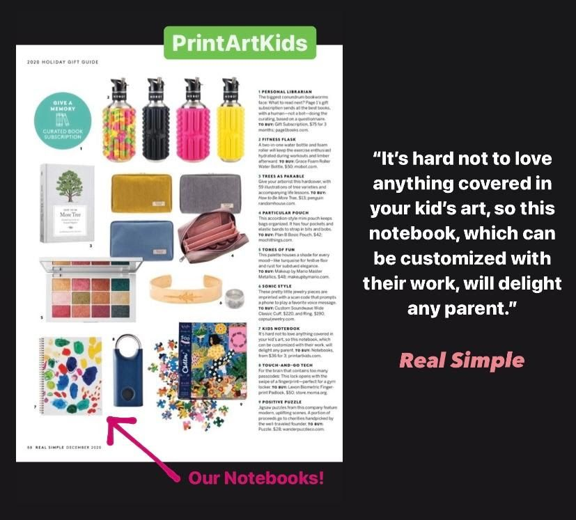 I'm excited to share that PrintArtKids is featured in RealSimple's Holiday Gift Guide 2020! This has been a dream and goal of mine since Day #1 and I am beyond thrilled for PrintArtKids to be recognized by one of the most popular and well-known home and lifestyle magazines published today! Look for us on page 88! #holidaygiftguide #realsimple #holidaygifts #realsimplemagazine #gift #gifts #holidaygiftguide2020 #holidaygifts2020 #magazine #magazines #magazinepublishing #homemagazine