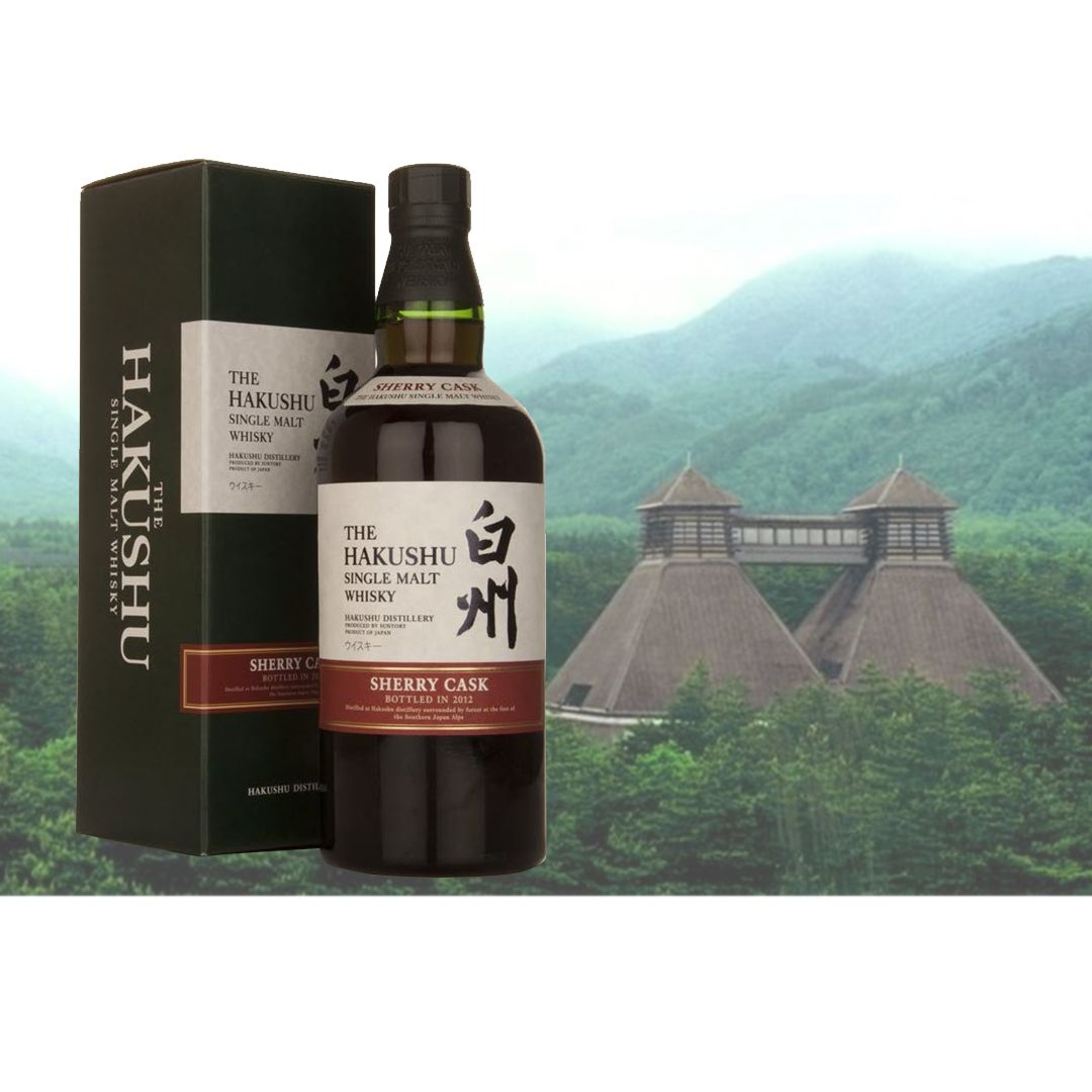 Hakushu Sherry Cask 2012 Suntory releases special limited editions in a wood expression series 'almost' annually, for both their Yamazaki and Hakushu distilleries. The Hakushu Sherry Cask 2012 has no age statement, this goes for all releases in this series. It is a lightly peated spirit, and it has been matured exclusively in sherry casks.