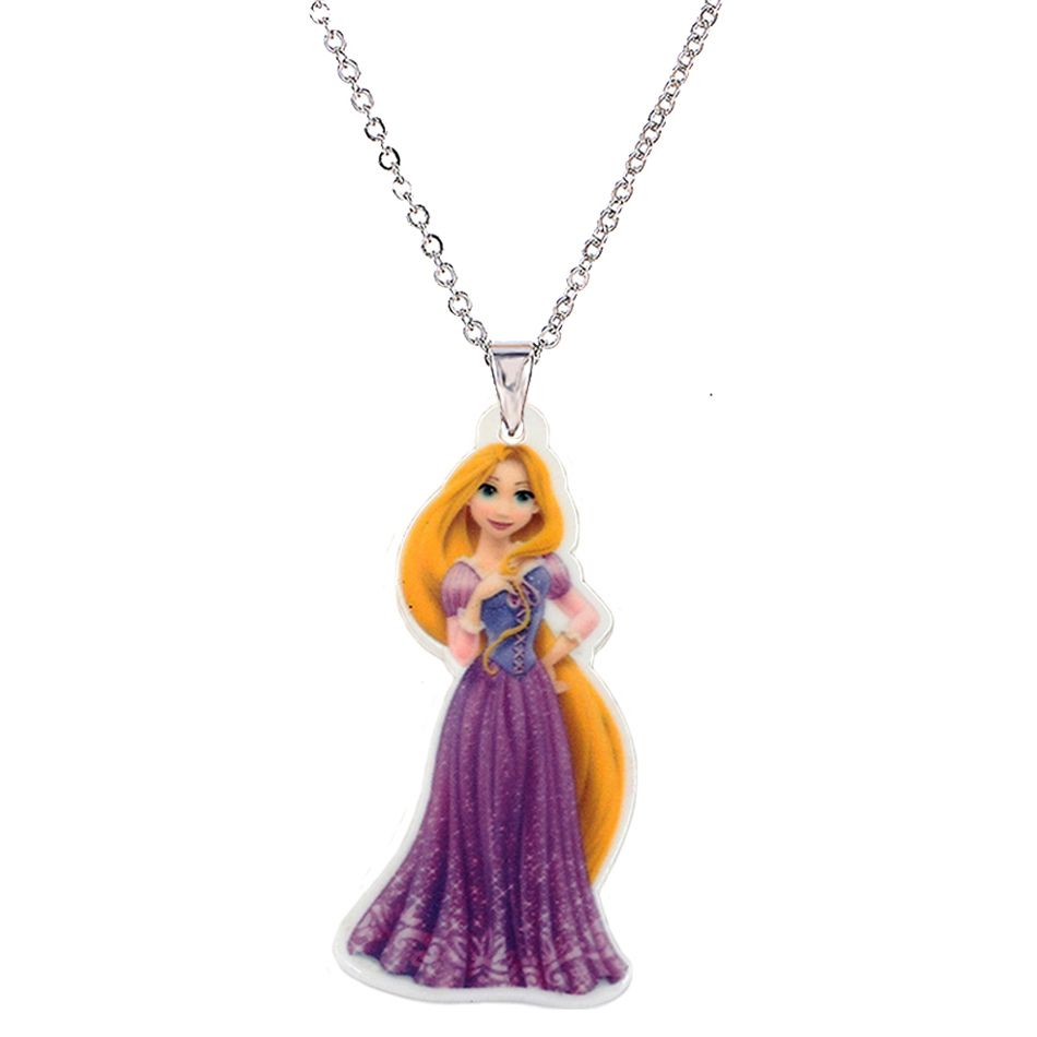 Cartoon Princess Plastic Pendant Necklace For Little Girl Metal Silver  Chain Flatback Planar Resin Children Neckl… | Girls silver chain, Kids  necklace, Cat necklace