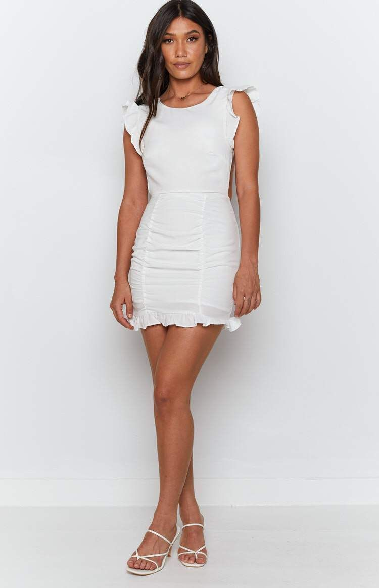 Leonie Mini Dress White In 2021 White Mini Dress Mini Dress Dresses [ 1164 x 750 Pixel ]
