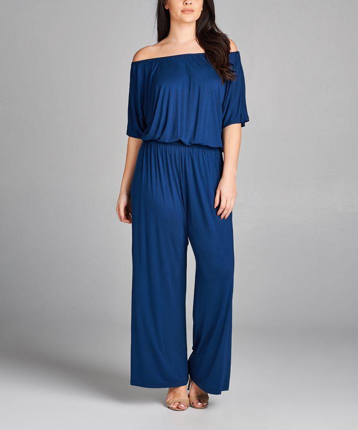 d02a79922d9c Royal Blue Off-Shoulder Jumpsuit