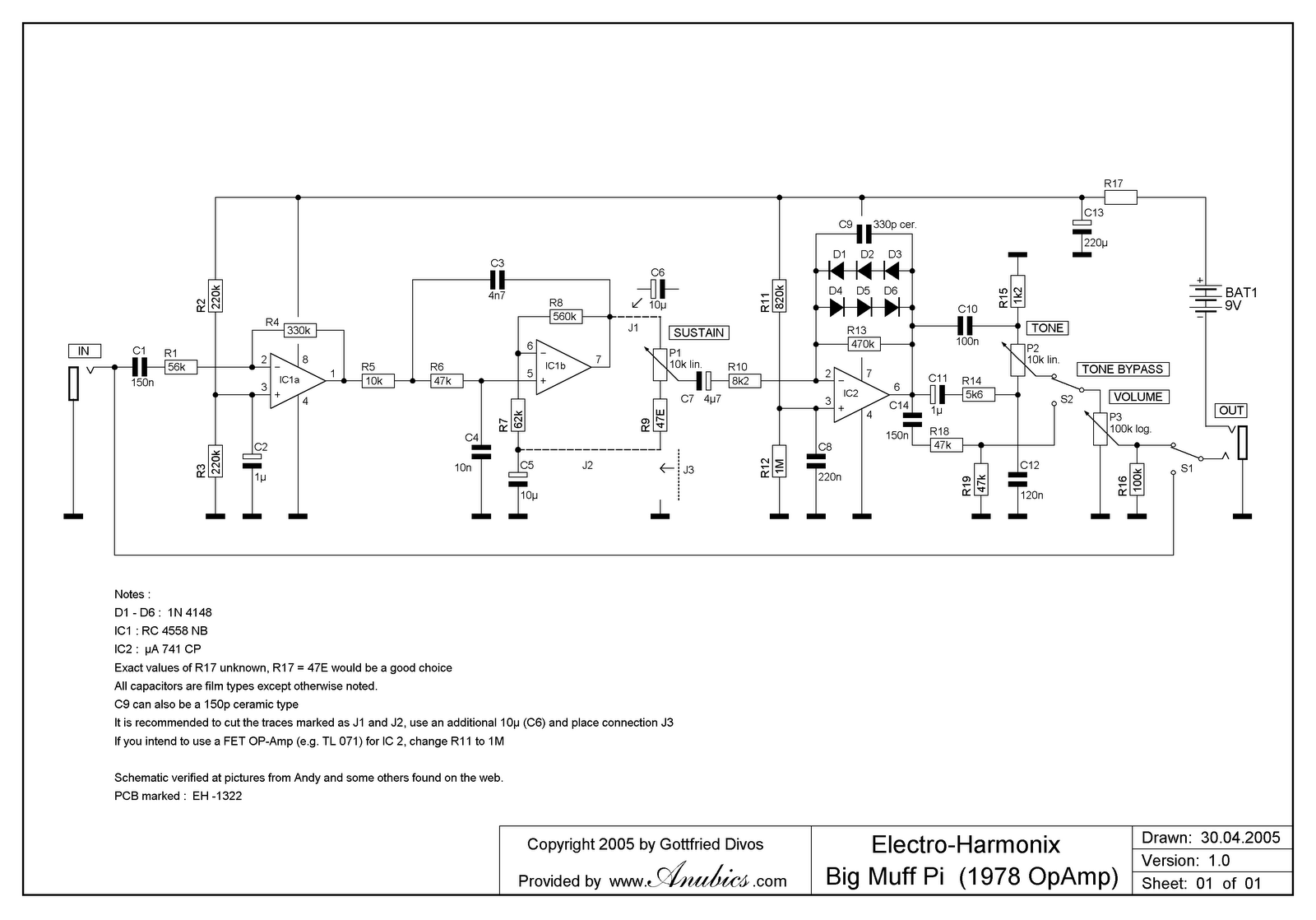 Big Muff Op Amp Schematic W Tone On Off Pedal Circuits And Article Panpot Guitar Rewiring Pedals