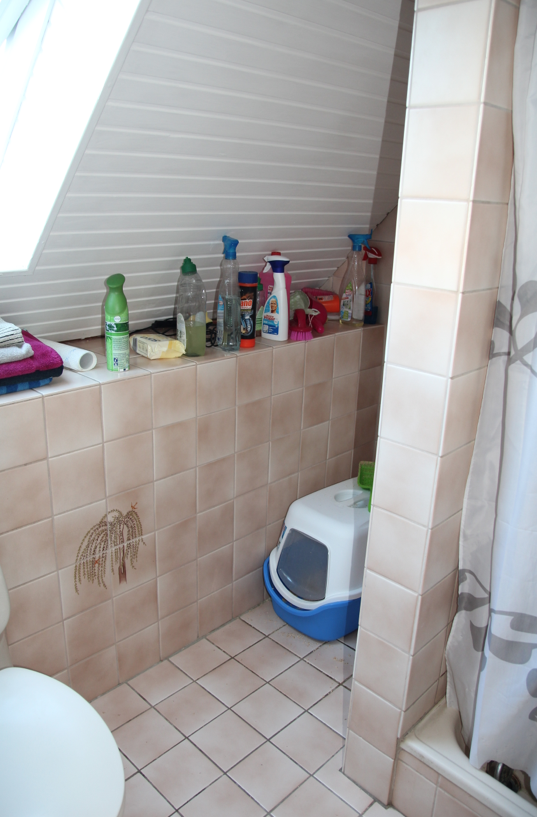 Badezimmer selbst renovieren: vorher/nachher | Bad | Badezimmer ...