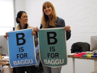 Emily & Ellen with B is for BAGGU Posters