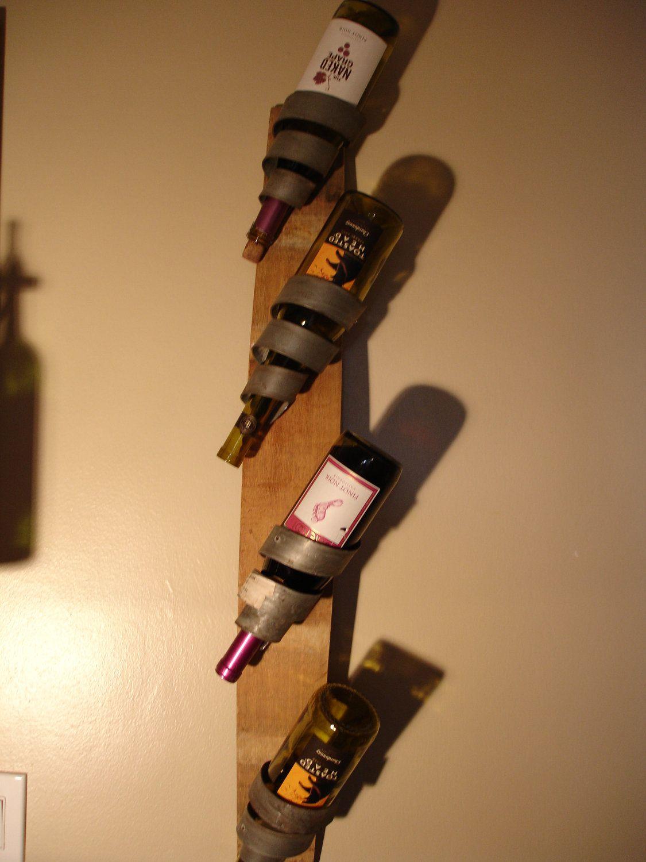 Curly Q Wine Barrel Bottle Holder