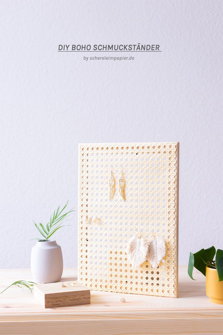 Photo of 5 Minuten DIY: Schmuckständer aus Holz und Geflecht selbermachen |