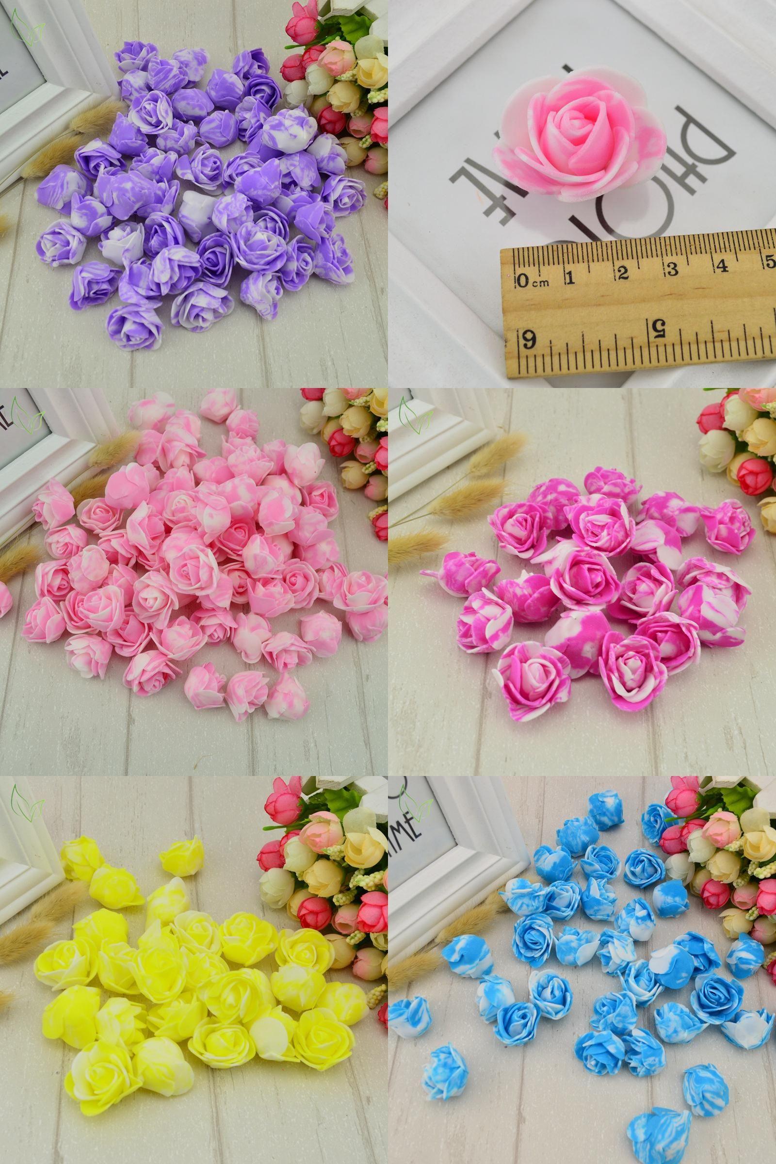 Visit to Buy] 30 pcs PE Foam fake flower roses head artificial ...