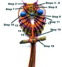 Description: This Owl Pendant is a fun project suitable for beginners. Usually Micro-Macrame requires some advanced knowledge, but not in this case. The simple design is easy to create even with limited experience. To change the appearance of this unique pendant, simply use different colored cord and beads than what was used in the image above.