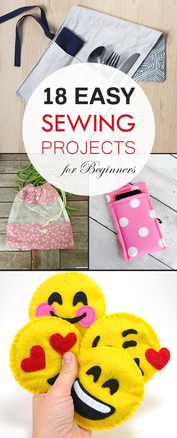 18 easy sewing projects for beginners pinteres 18 easy sewing projects for beginners more jeuxipadfo Image collections