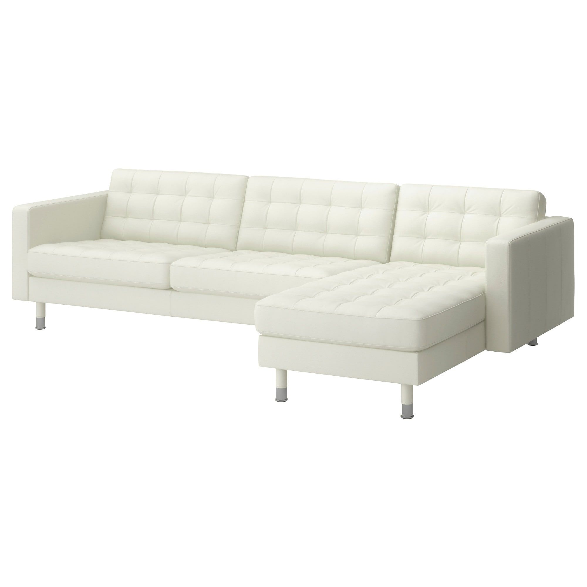Landskrona Sectional 4 Seat With Chaise Grann Bomstad Grann Bomstad White Metal With Images White Leather Sofas White Leather Couch Landskrona Sofa