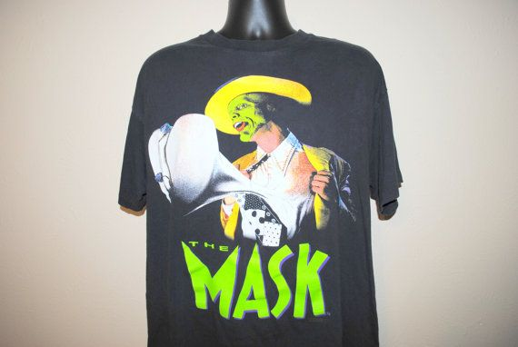 0bb016745d5c2a 1994 The Mask Vintage Classic 90 s Jim Carrey Comedy Movie Promo T-Shirt