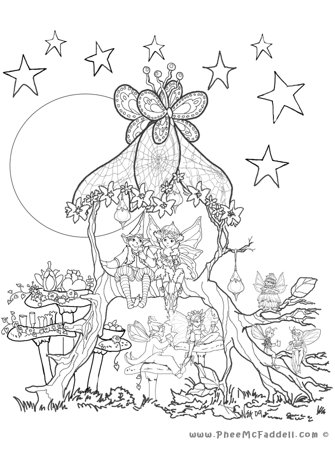 Refreshment Arbor www.pheemcfaddell.com | Coloring Pages - Hard ...