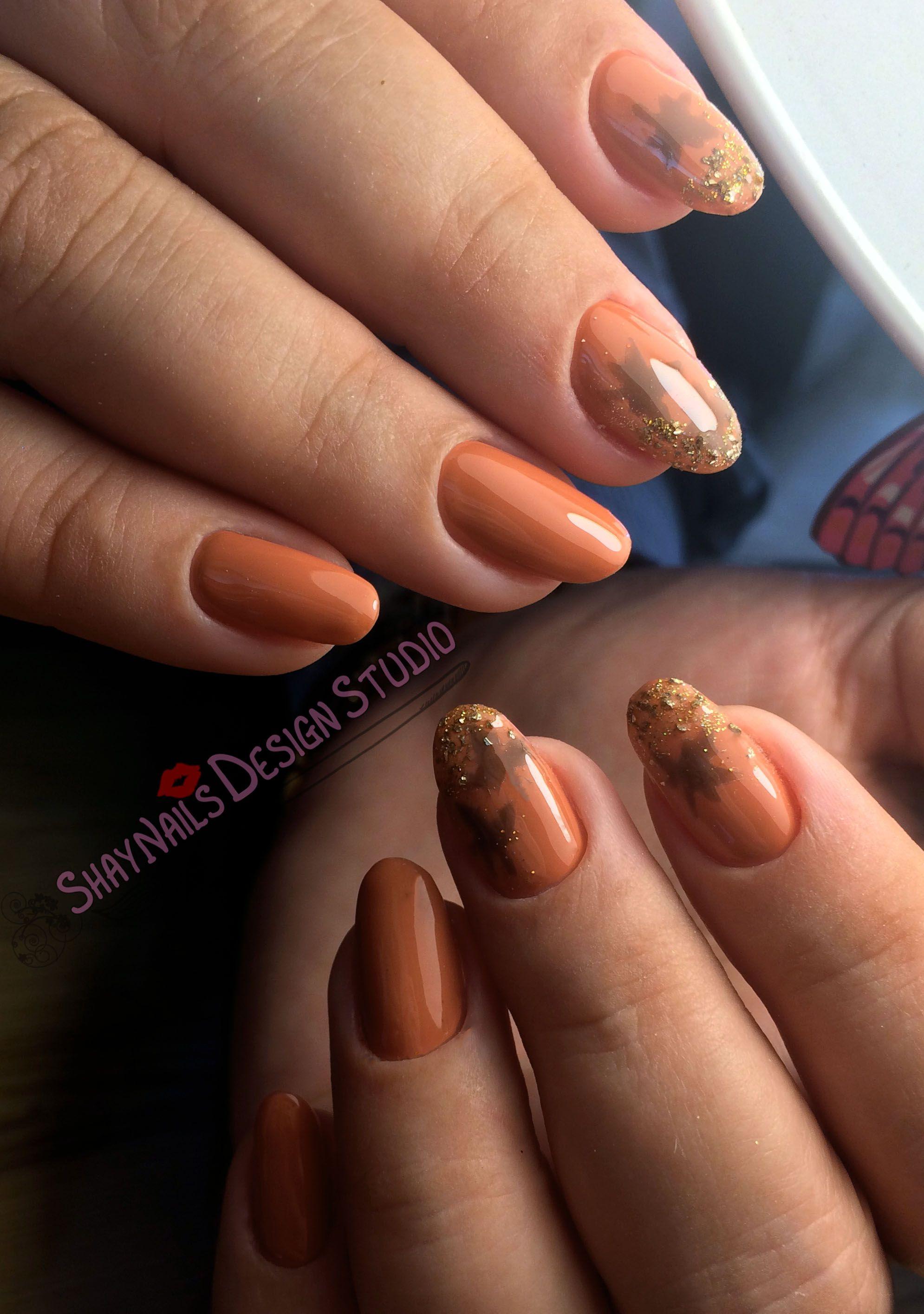 long beige nails autumn maple leaf   Nail Art   Pinterest   Beige nail