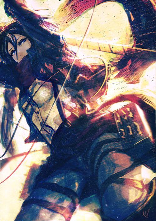 Shingeki no Kyojin (Attack on titan) Fan Art: Mikasa Ackerman