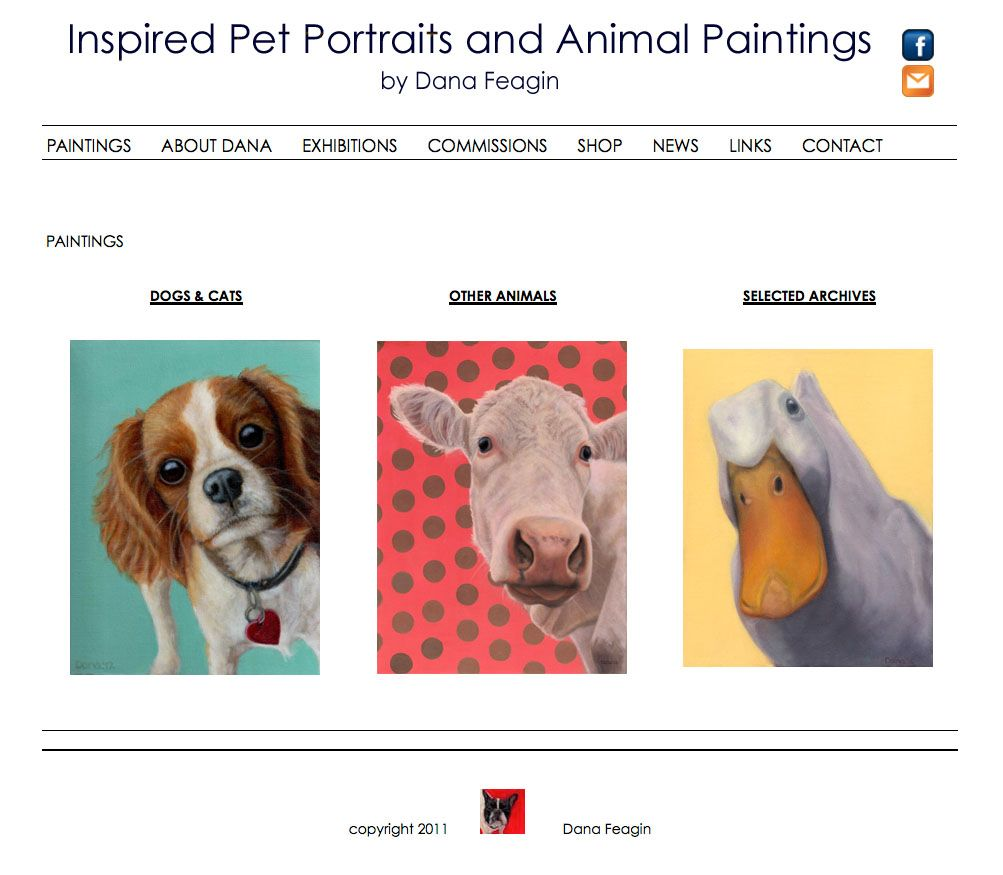 Current Work For Connie Wiermann Web Design Animal Paintings Animals Web Design Studio