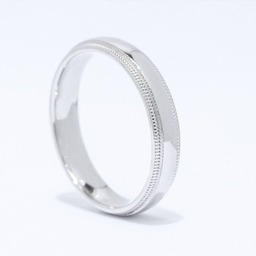 14k White Gold Men S Wedding Band For Men Who Want A Classic Look In 2020 Mens Wedding Bands White Gold Mens Wedding Bands Mens Wedding Bands Unique