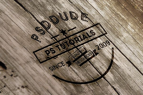 Create An Engraved Wood Logo In Photoshop Photoshop Tutorial Typography Photoshop Tutorial Retro Photoshop Tutorial