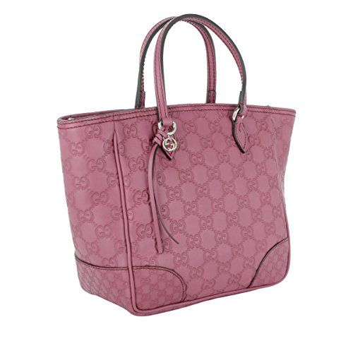 fbe321caf050 Gucci Peonia Pink Purple Bree Guccissima Leather Small Shopping Tote Bag