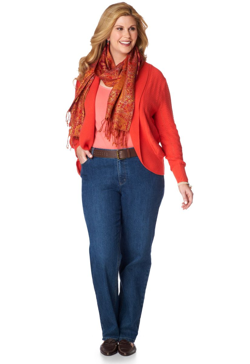 Pointelle Cocoon Cardigan Outfit - CJ Banks | Clothes for ...