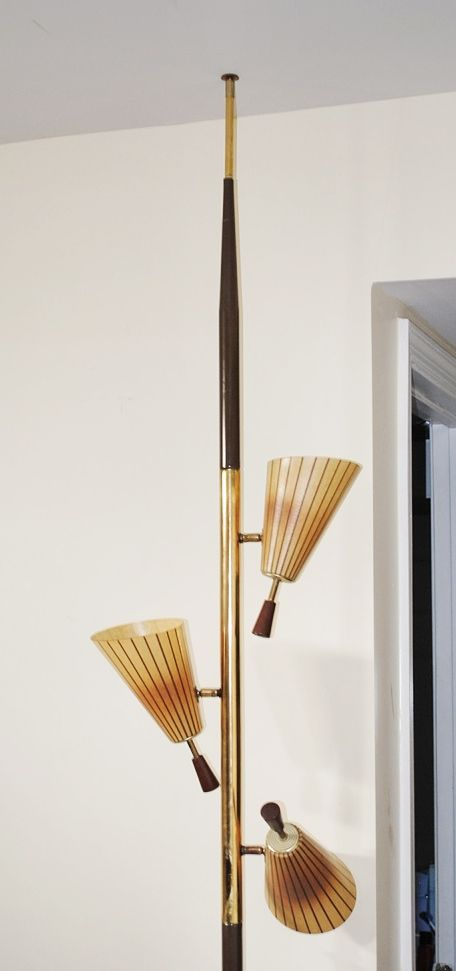 Pole Lamps Ugly But Effective Floor To Ceiling With Tension Rod