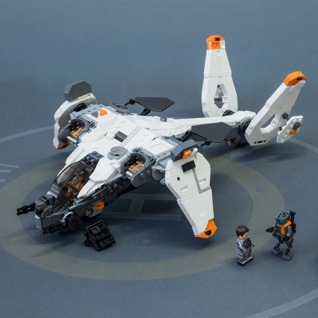 Phantom From Titanfall 2 By Steppedonabrick Pimped From Flickr Lego Spaceship Lego Cars Lego Ship